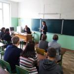 Выступление ученицы 8 класса Мокан Анны